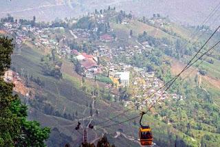 Darjeeling Rangeet Valley Passenger Ropeway suspended