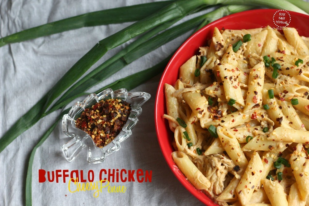 Buffalo-Chicken-Cheesy-Penne-Ticklethosetastebuds