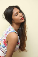 Nishi Ganda stunning cute in Flower Print short dress at Tick Tack Movie Press Meet March 2017 151.JPG