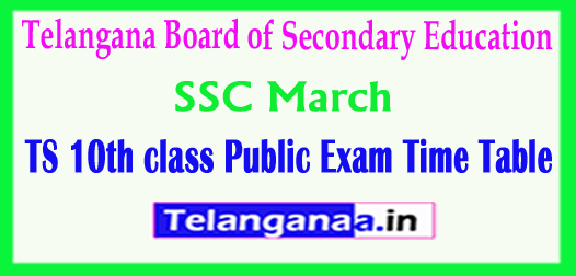 TS Telangana SSC March 2018 Exam Fee Tatkal Due Dates Notification