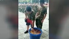 Siswa Dipaksa Makan Makanan Sisa dari Tong Sampah Saat Pelatihan Militer