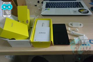 Infinix Hot 3 - kelengkapan paket penjualan