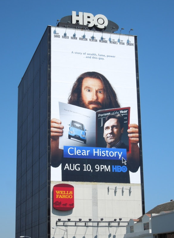 Giant Clear History billboard sunset strip