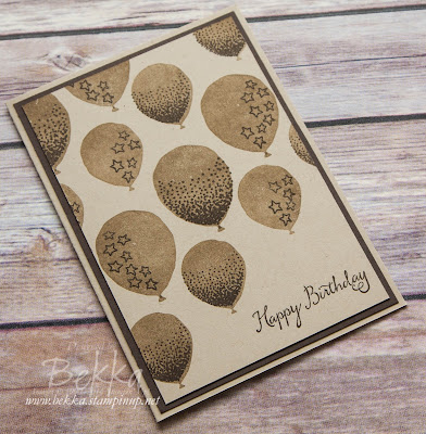 Make In A Moment Balloon Celebration Birthday Card - get everything you need for this card here