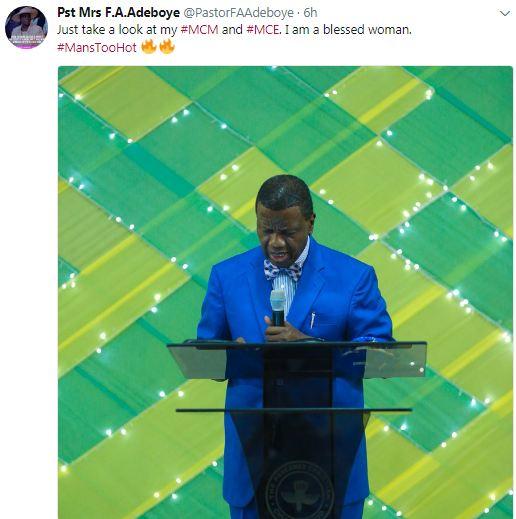 Pastor Foluke Adeboye gushes over her husband