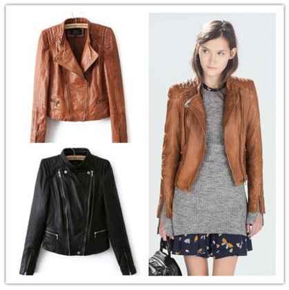 desain jaket kulit casual untuk wanita