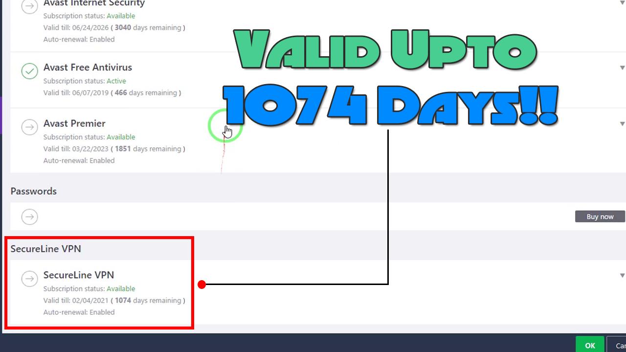 avast secureline vpn lifetime license