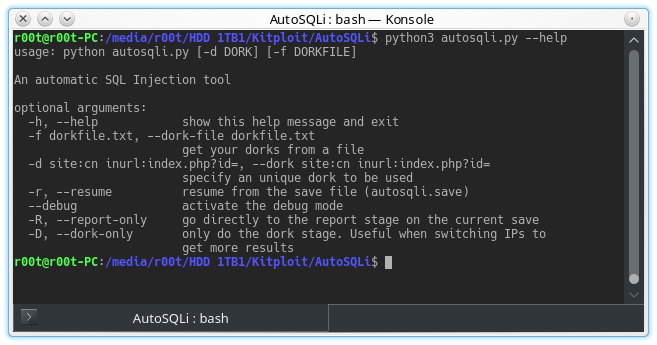AutoSQLi - An Automatic SQL Injection Tool Which Takes
