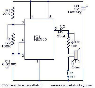 (practice Ham Radio) CW practice oscillator  Electronic