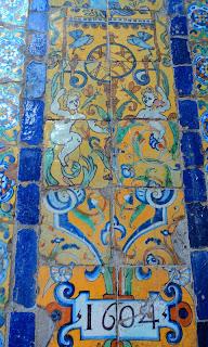 Azulejos de Sevilha (1604), no Convento de Santo Domingo, de Lima