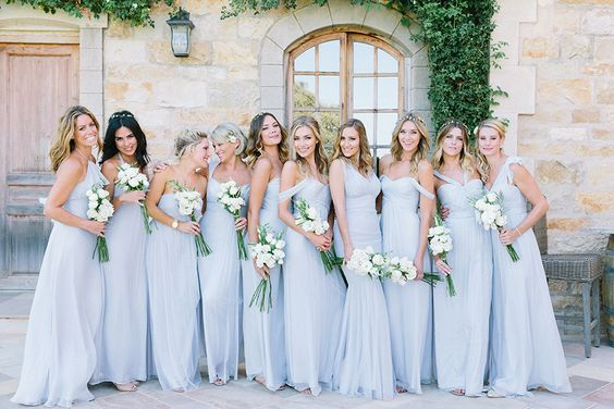 Pale blue bridesmaid dresses Wedding Inspiration