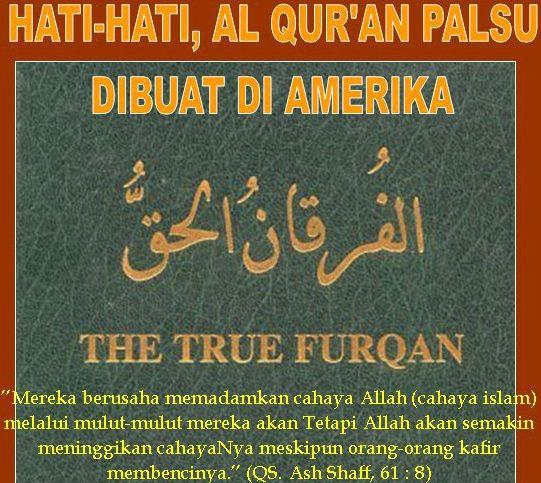 Beradar Al-Quran Palsu Dengan Nama