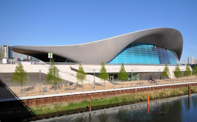 bangunan olimpiade london 2012 terbaik london aquatic centre