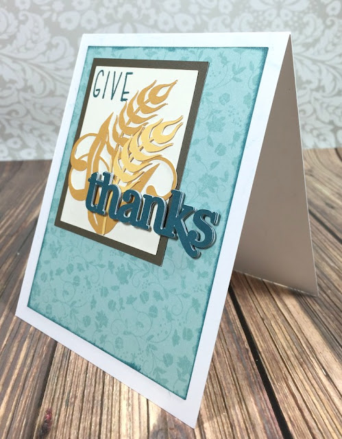 Cricut Artiste Give Thanks card