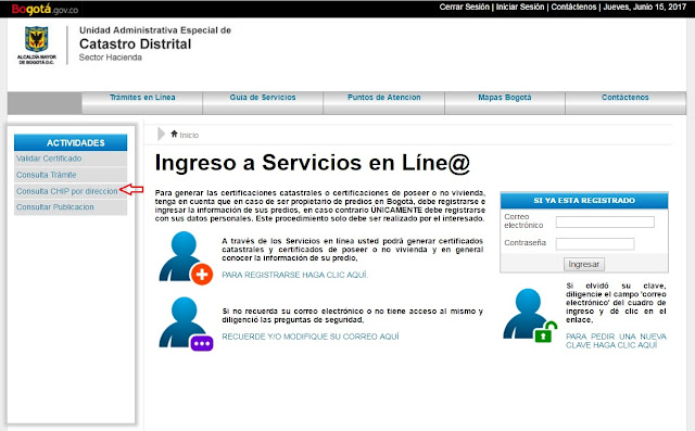 Certificado Catastral Bogotá por Internet 2020 - 2021