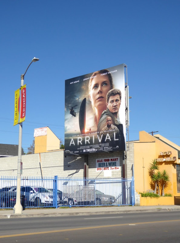 Arrival movie billboard