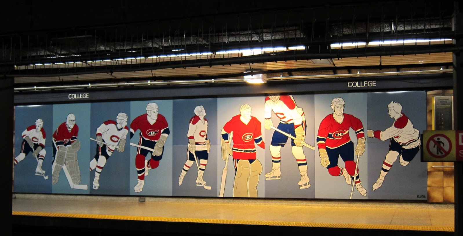 Charles Pachter's Hockey Knights in Canada - the Montreal side