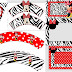Zebra and Red Minnie:Free Printable Invitations and Free Party Printable.