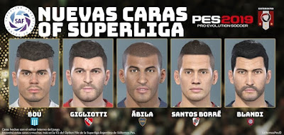 PES 2019 PS4/PC Option File Superliga Argentina v1 by EditemosPES