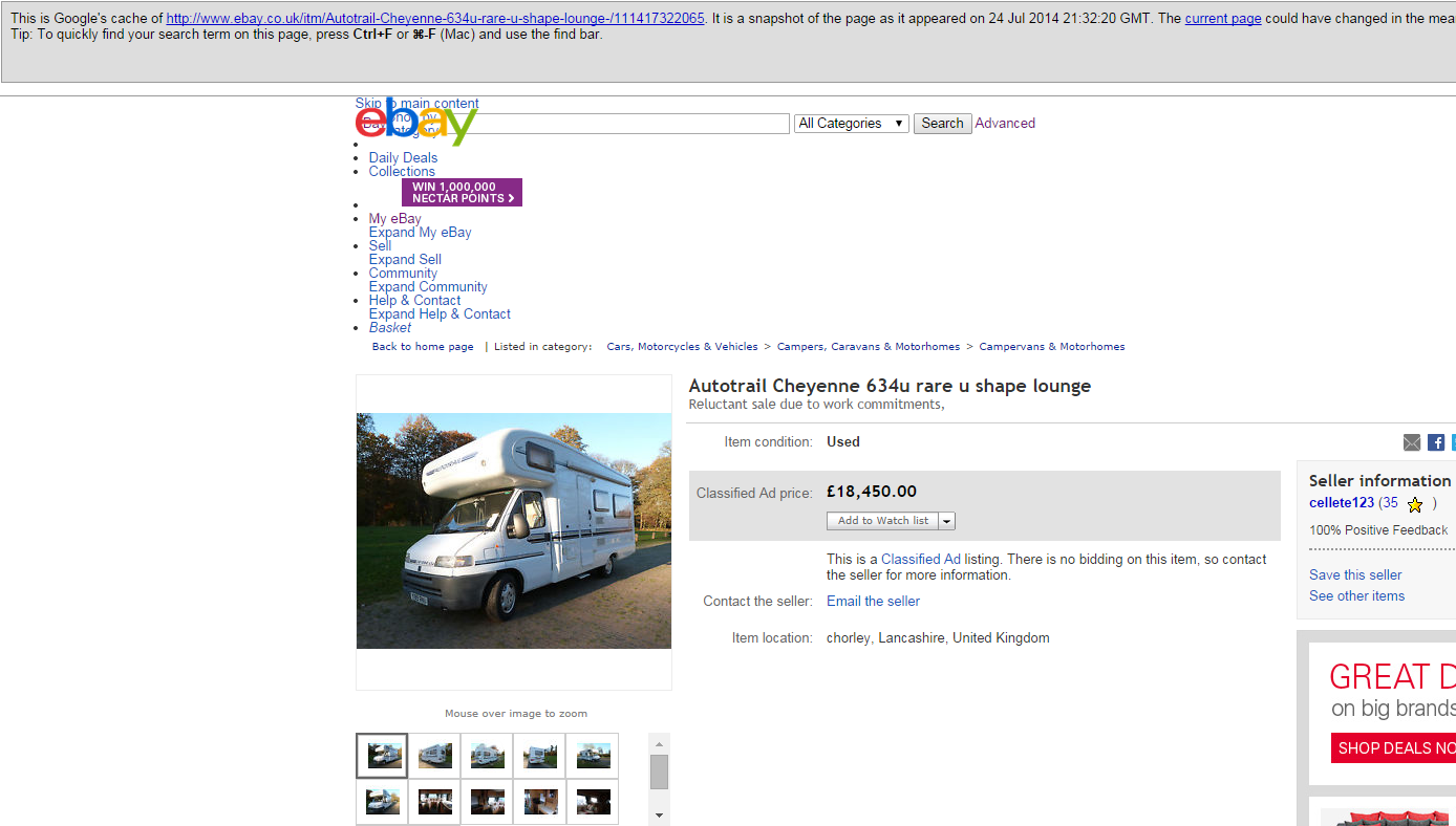 Jack Buster Jack Scam Fraud On Ebay Uk Autotrail Cheyenne 634u With A Fiat 2 8 2001 Camper Campervan Motorhome 14 Sep 14