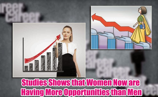 Studies Shows that Women Now are Having More Opportunities than Men