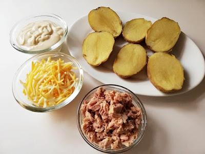 ingredientes patatas rellenas de atún