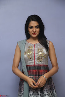 Sakshi Chaudhary Beautiful Emroidery Work Sleeveless Anarkali Dress 005.JPG