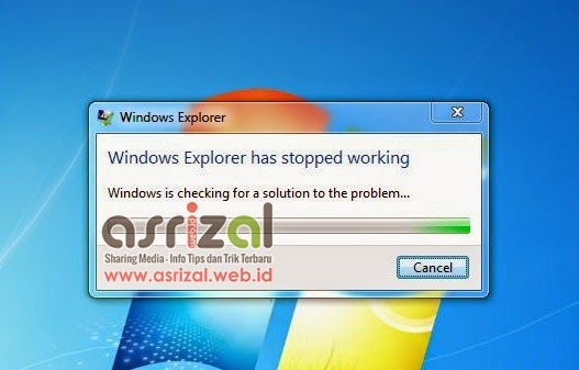 Solusi Mengatasi Windows Explorer Has Stopped Working