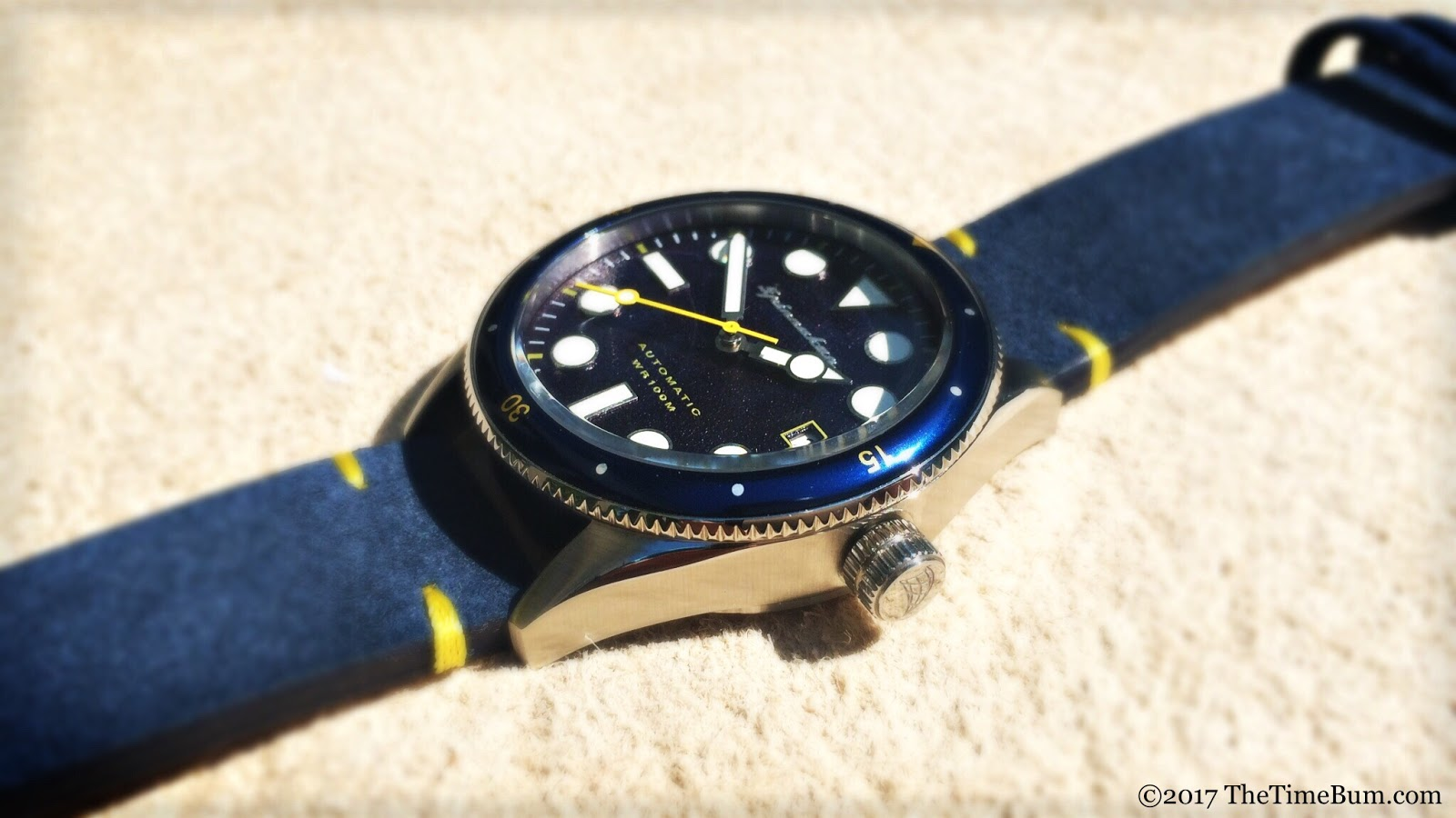Spinnaker Cahill 38mm blue