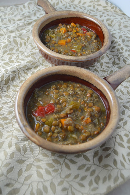 Slow Cooker Sweet Potato and Lentil Soup