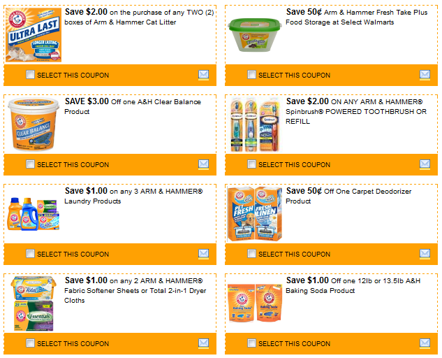 picture relating to Valspar Coupon Printable titled Excessive Couponing Mommy: 14 Arm Hammer Printable Coupon codes