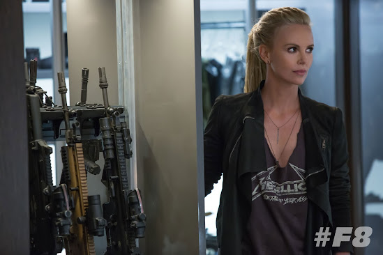 Some women collect shoes. And then you have Charlize Theron here sporting  her own collection of sorts as per her latest casting as villain, Cipher,  ...