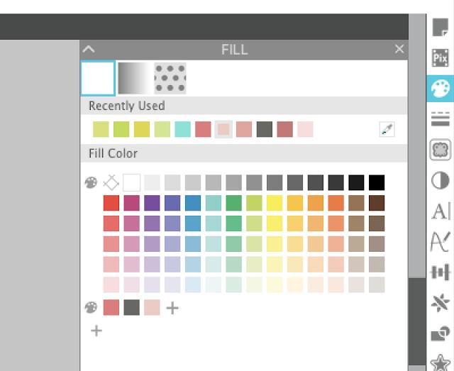 silhouette studio, silhouette design studio, silhouette studio tutorials, fill color, line color