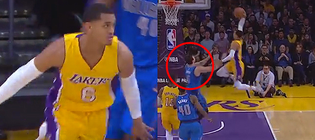 Jordan Clarkson Steals and Skies for the MONSTER Slam (VIDEO)