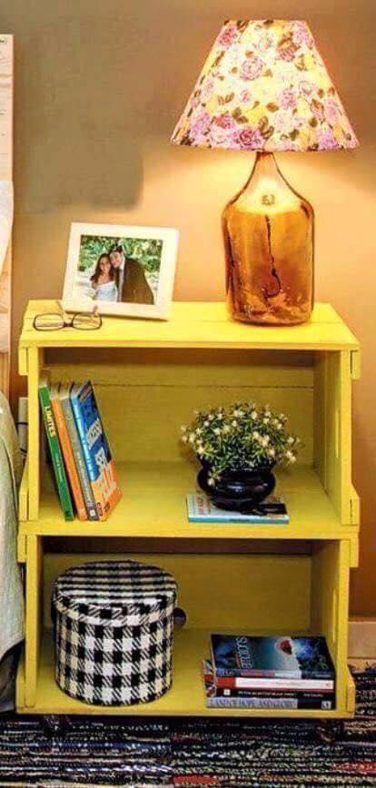 Ideas de muebles hechos con con cajas y cajones de madera