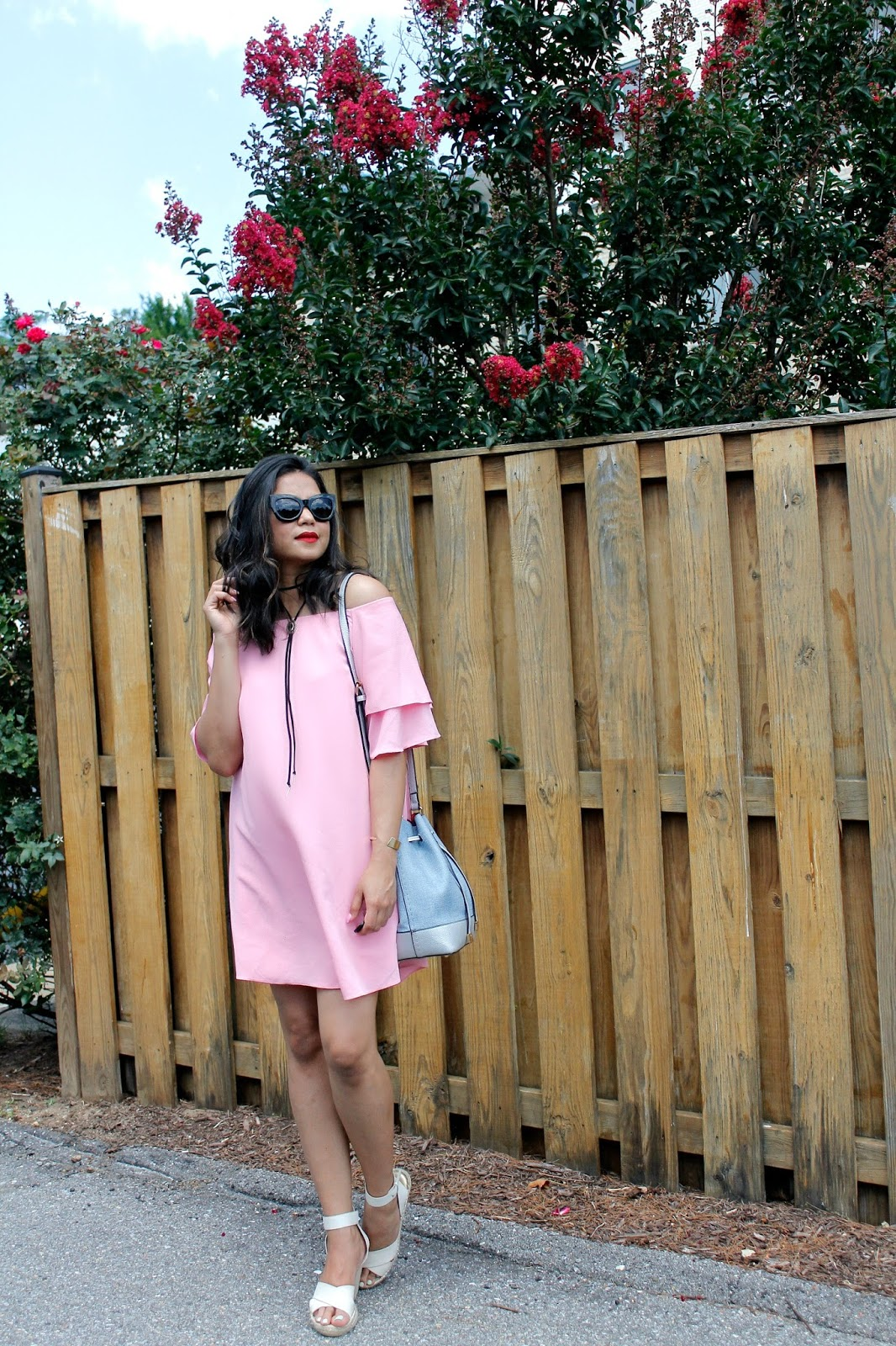 e23a8d95 Anyways, when a pretty pink dress, with pretty sleeve ruffles goes on sale:  you don't just walk past it, you try it, and if it fits and is under $30,  ...