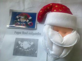 Cabeza del Papá Noel HOHOHO colgante
