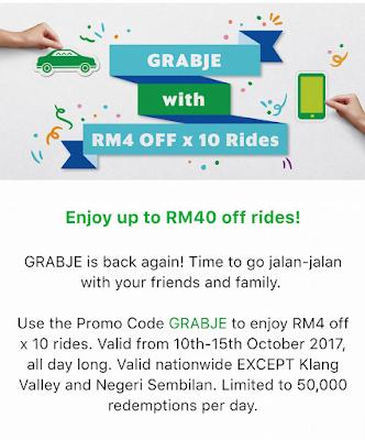 Grab Promo Code Malaysia October