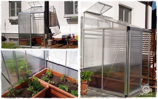 Gartenblog Topfgartenwelt Loungemöbel für den Garten - fertiges Anlehngewächshaus