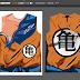 Diseño de Camiseta traje de Lucha  GOKU   /   VEGUETA   100% vector DISPONIBLE