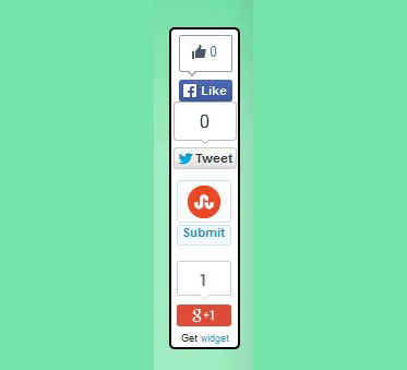 How to Add Floating Social Media Sharing Buttons in Blog