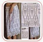 Falda Piñas Crochet