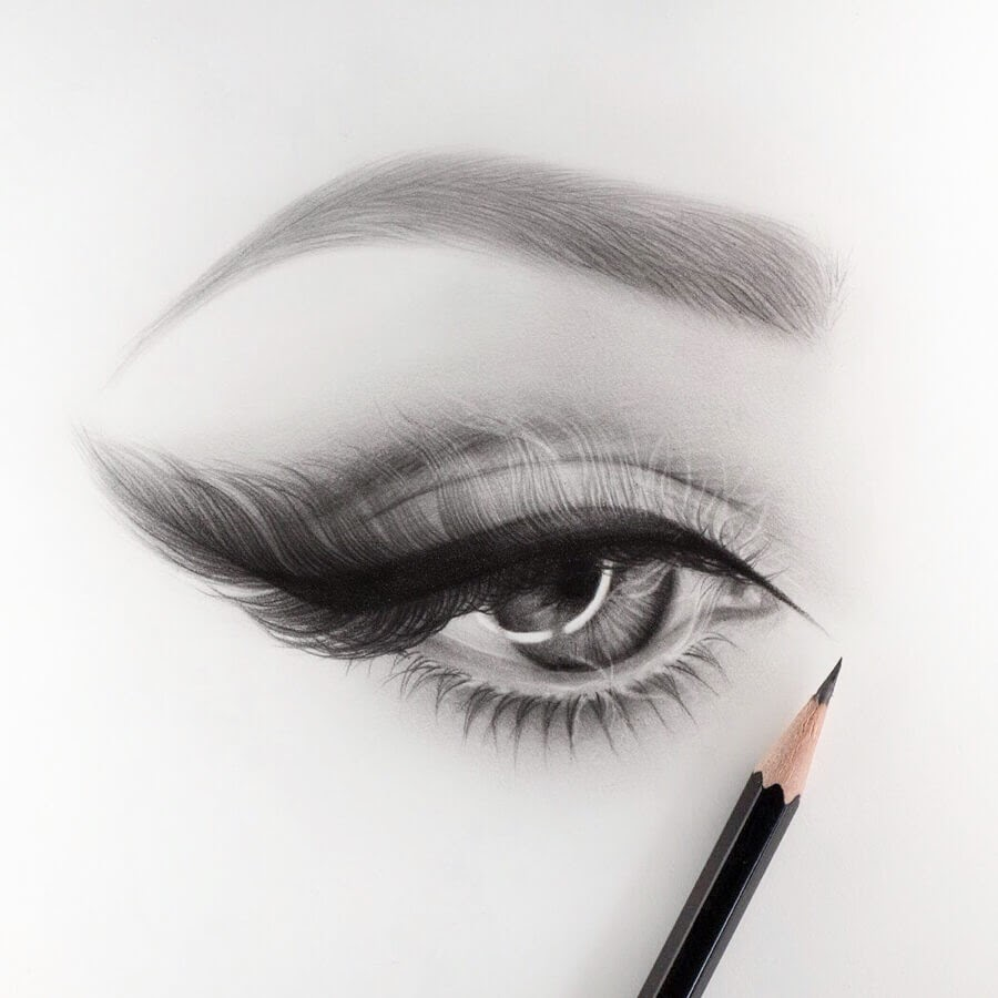 05-Eye-and-Feather-Lashes-Silvie-Mahdal-Realistic-Anatomical-Detailed-Portraits-www-designstack-co