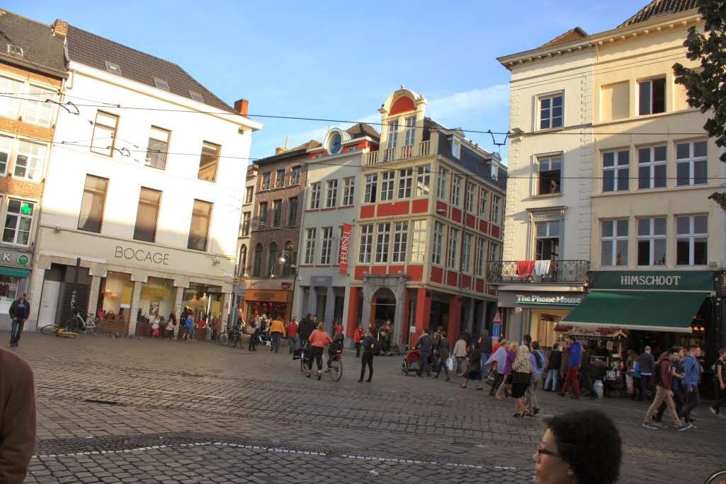 Groentenmarkt square in Ghent