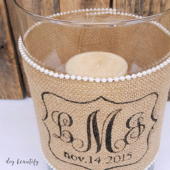 Diy Burlap Wedding Ideas: DIY Idea For Custom Wedding Gifts (Candle Holder With
