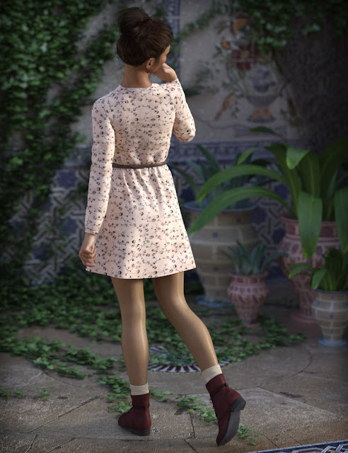 Cool Spring Outfit for Genesis 3 Female