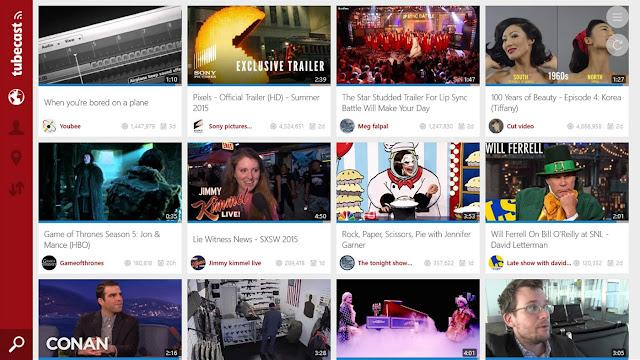Tubecast - أفضل تطبيقات يوتيوب في ويندوز 10