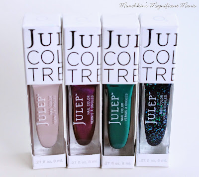 Julep polishes- Shari, Hazel, Lizanne, and Cora.