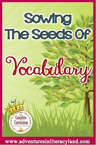 Research says children that struggle with comprehension also struggle with vocabulary.  Wouldn't you like to have your quick and easy ways to expand your students' vocabulary and also strengthen their overall comprehension? Sowing The Seeds Of Vocabulary (the first in a series) will walk you through understanding and implementing vocabulary in your classroom.  Read this post and your students will thank you profusely. (See what I did there?)