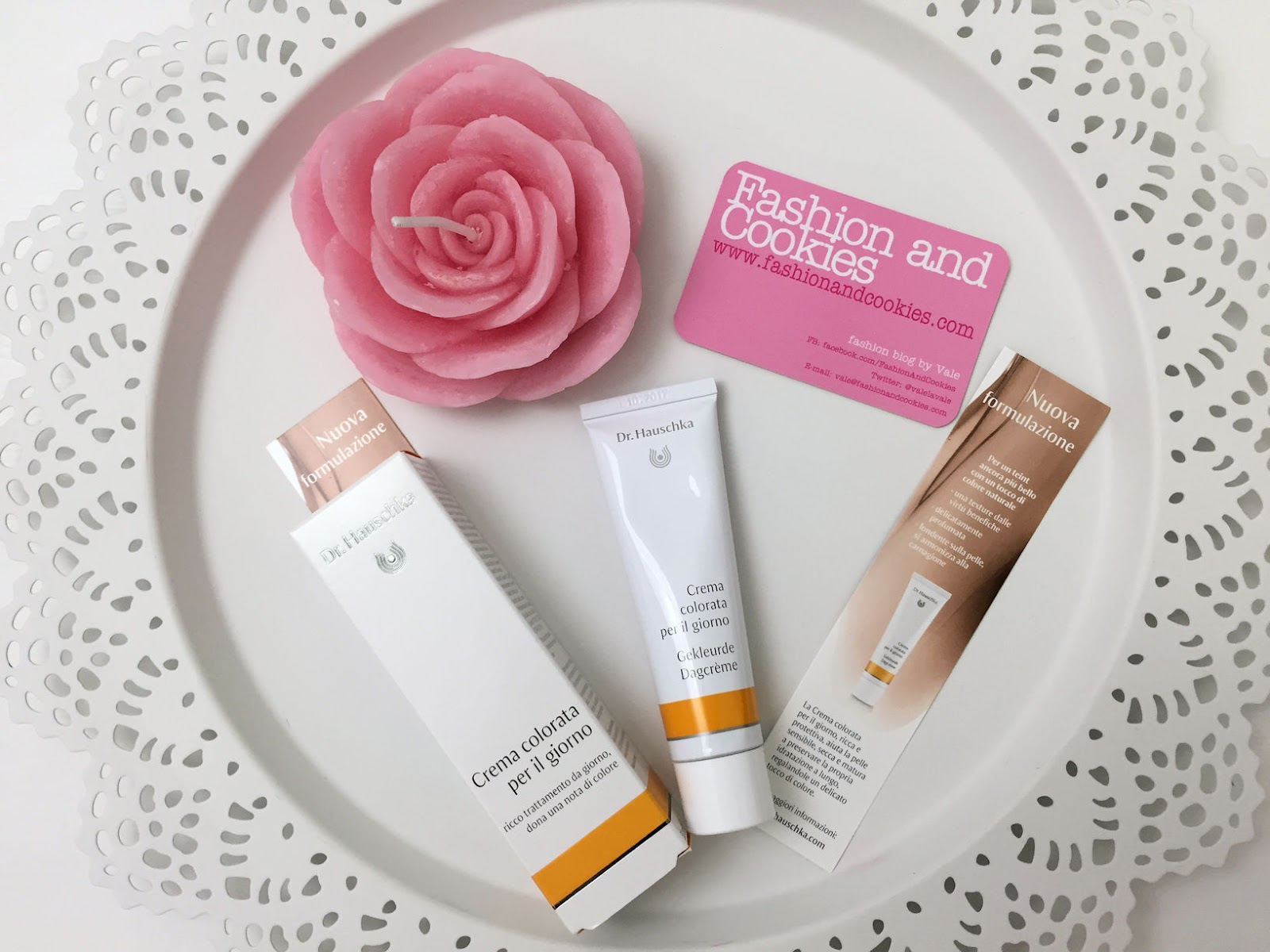 Dr. Hauschka tinted day cream review on Fashion and Cookies beauty blog, beauty blogger